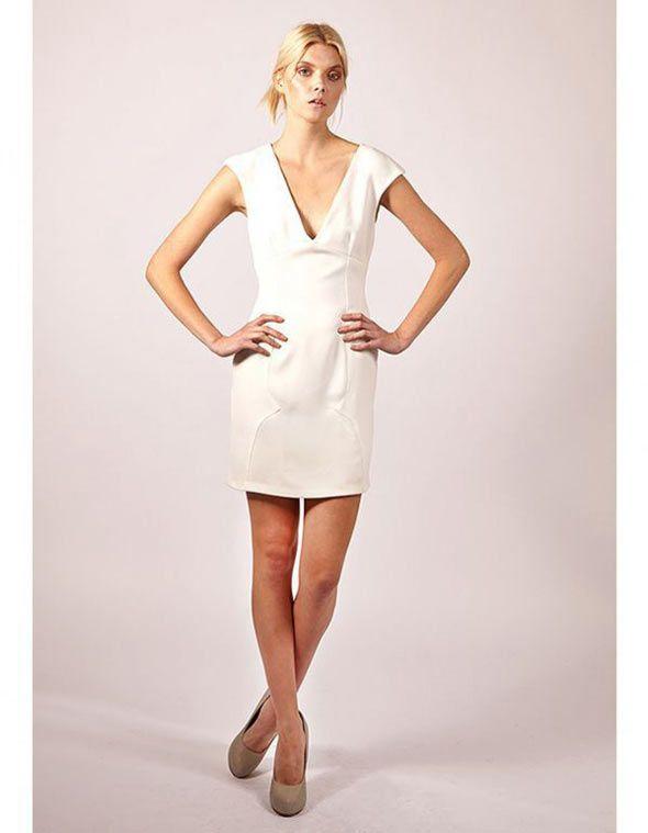 JUDY WU Deep V Dress - Women's Pencil #dresses