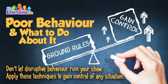 How do you deal with poor, disruptive behaviour? We discuss one major leverage YOU have and also give you FOUR rules of thumb to follow to help you maintain control. Check out http://kidsentertainerhub.com/poor-behaviour-and-what-to-do-about-it/