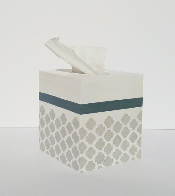 Tissue box cover Kleenex box coverBlue and Gray by CottageWall & 16 best Tissue Box Covers images on Pinterest | Tissue box covers ... Aboutintivar.Com