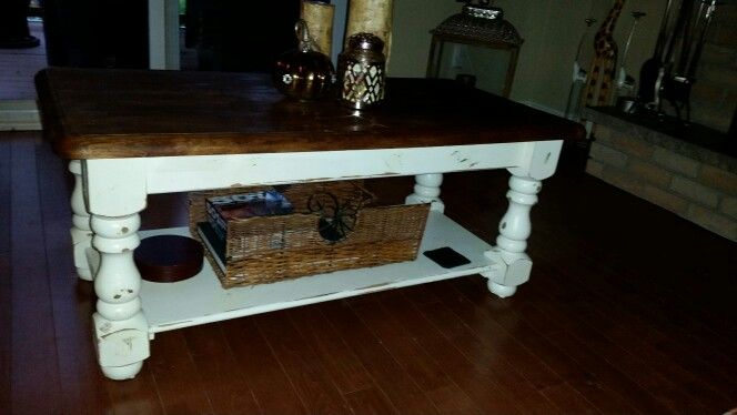 Refinished my 16 year old coffee table.