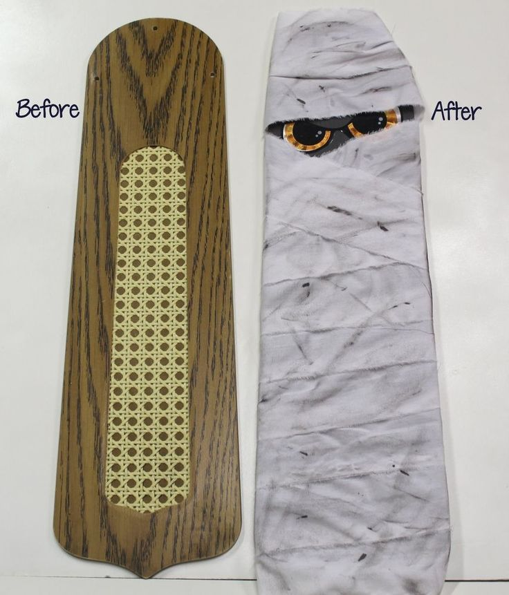 Make a Halloween Mummy From a Ceiling Fan Blade