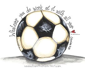 Soccer Print (Colossians 3:23)