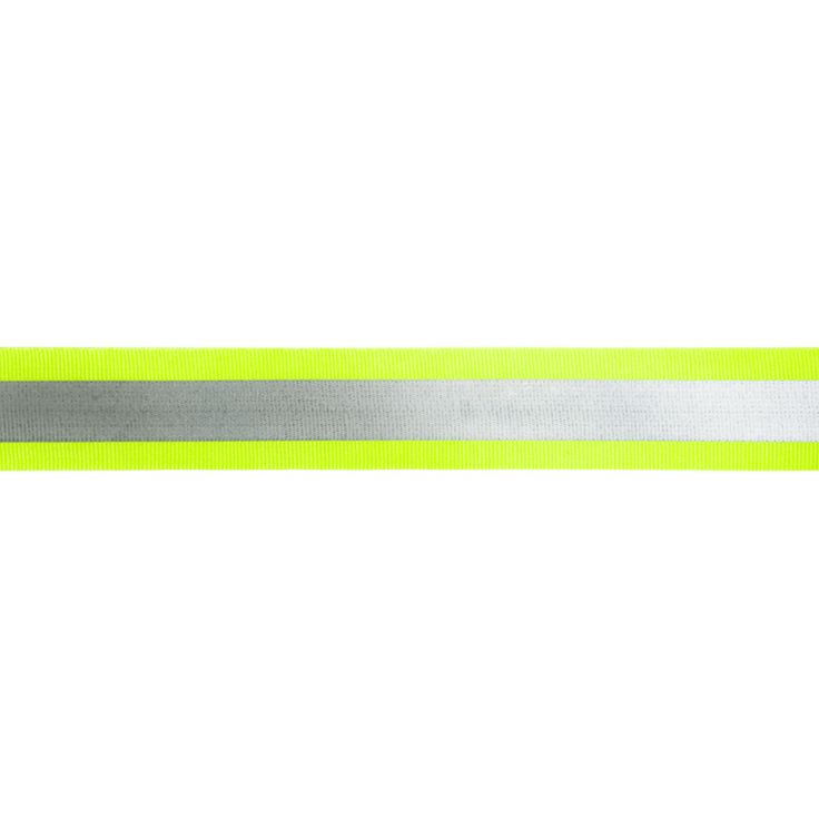 5 m Reflektor- / Leuchtband, 30mm breit Farbe: gelb-silber