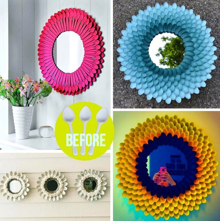 DIY - Decorative Chrysanthemum Mirror  Share, Re-pin, Like & Comment!