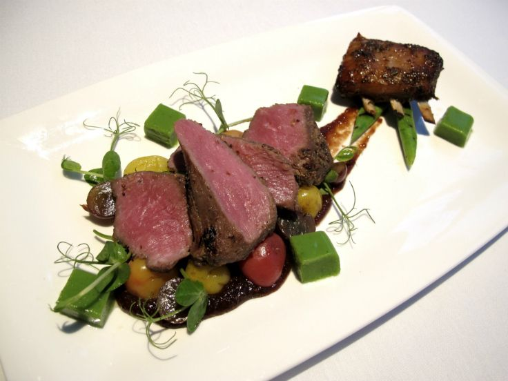 Mount Bistro's Head Chef Stephen Barry's  Silere Merino Lamb Medallions and ribs http://www.stuff.co.nz/life-style/food-wine/silverfernfarms
