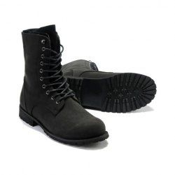 $25.10 Laconic Vintage Men's Boots With Solid Color High Top and Lace-Up Design