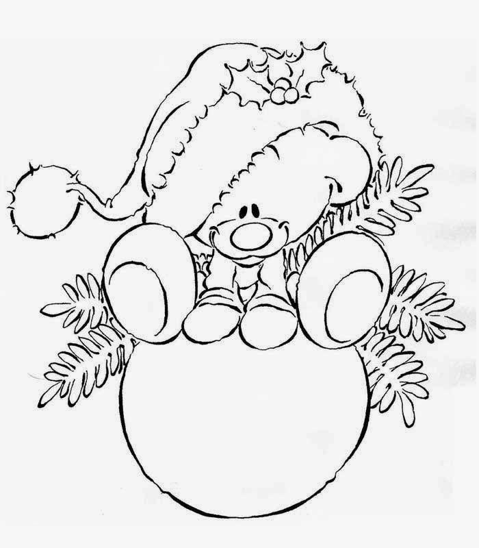 Christmas Bear On Bauble
