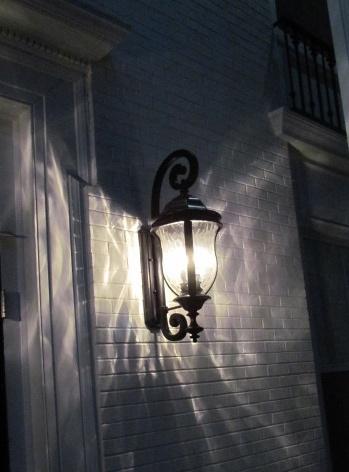 Savoy House outdoor lighting for a sorority in town.