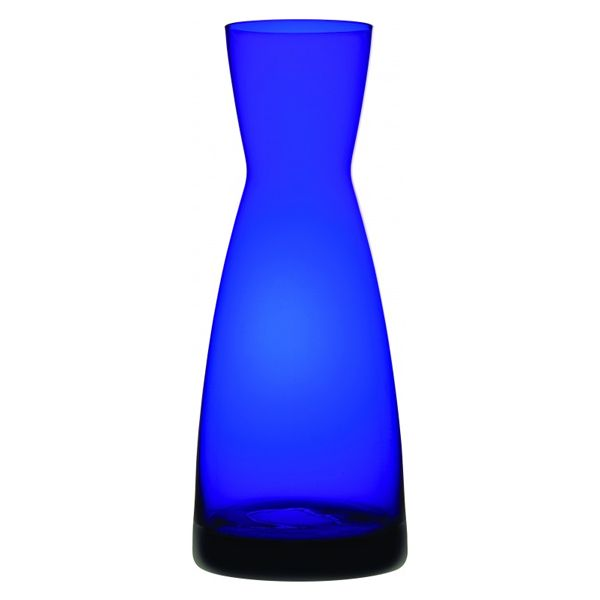 Perfect for serving water or wine, this stunning Cobalt Contemporary Carafe is a simple and modern addition to any table.