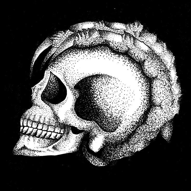 """Skull // Crow"" #Artwork #Drawing #Illustration #Sketch #Art #Design #MixMedia #Pointillism #Engraving #CVLT #Figure #Artificial #Love #Like #LOL"