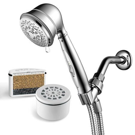 Aquacare By Hotelspa 7 Setting Filtered Handheld Shower Head With