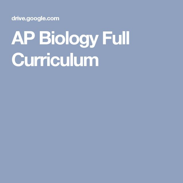 AP Biology Full Curriculum