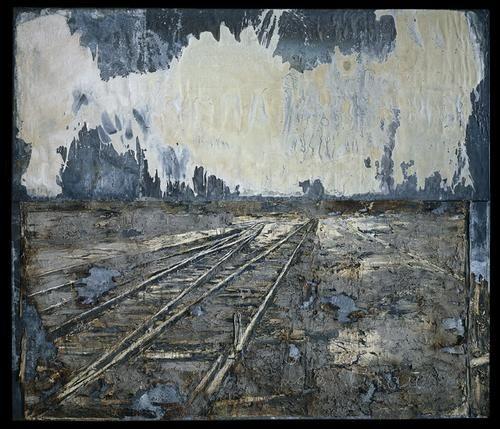 Anselm Kiefer, Lot's Wife, 1989, Ash, Emulsion, chalk, linseed oil, stucco, salt, on canvas