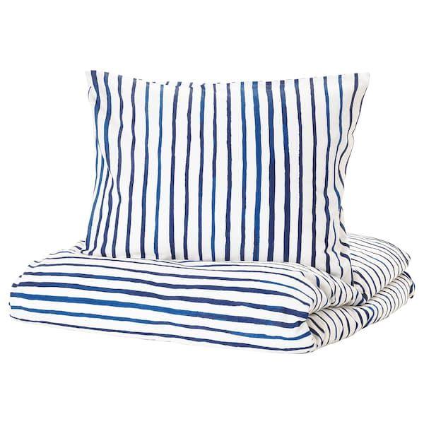 Sanglarka Bettwascheset 2 Teilig Gestreift Blau Weiss Ikea Deutschland Bettwasche 140x200 Bettbezug Und Ikea