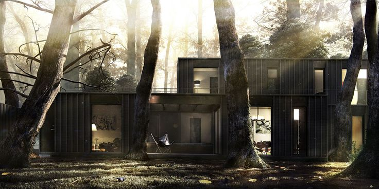 House in the woods _ 3DNotos