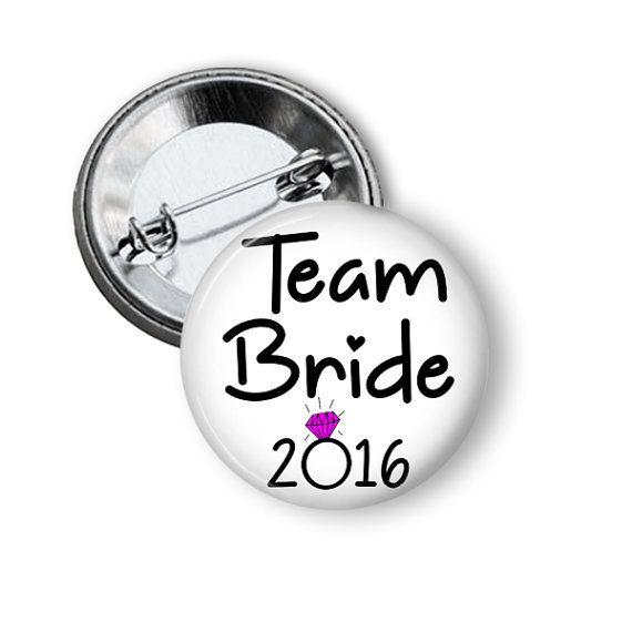Team Bride Bachelorette Party Crew Favors Pins www.nannygoatscloset.com