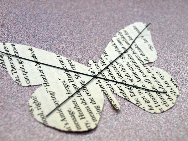 Mariposas de papel antiguo