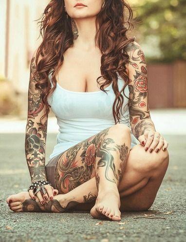 full sleeve tattoo <3