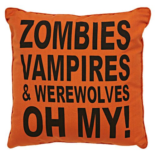 Throw Pillows Garnet Hill : I Love You So Much It s Scare Spider Pillow, Black/Orange, 18