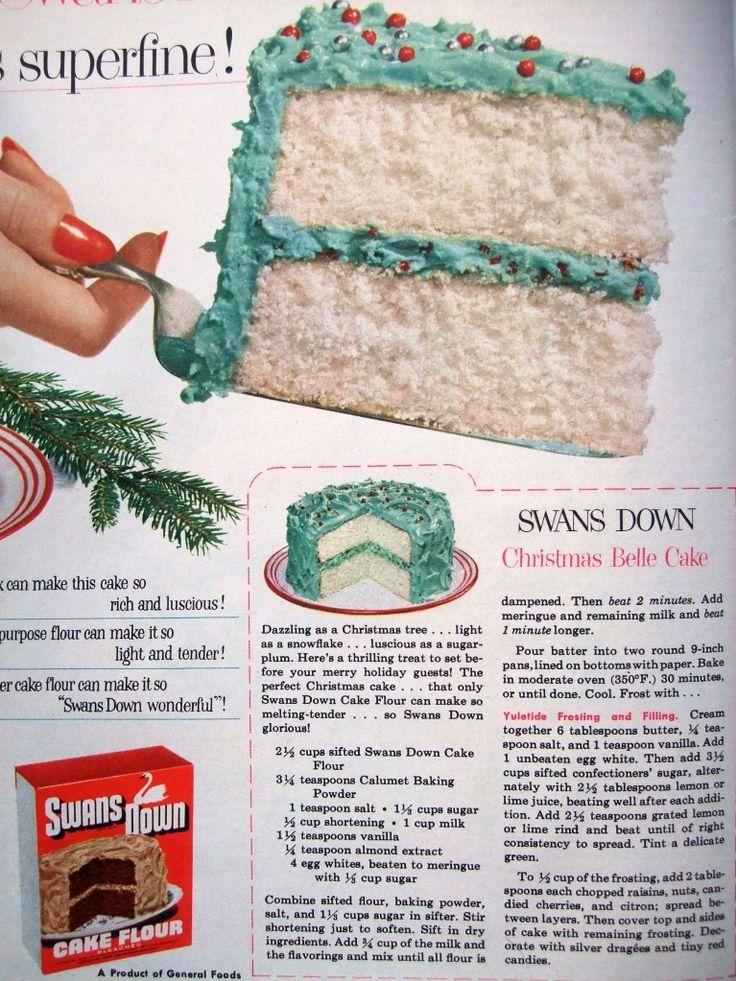 Vintage Retro Christmas cake recipe