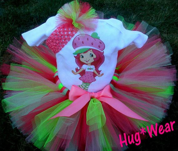Custom Strawberry Girl Shortcake Birthday Tutu by HugWear on Etsy, $39.95