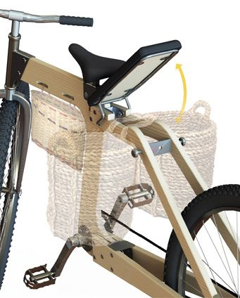 –Greencycle-Eco by Paulus Maringka is a flat pack bicycle designed for third world incomes. Great panniers idea!