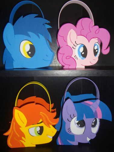My Little Pony Inspired Party Bags Favors | eBay Out of foam _ maybe out of cardstock on paper bag?
