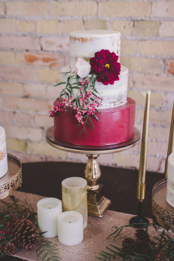 Burgundy & Gold Fall Wedding Inspiration|Photographer: Jessica Ajeman Photography