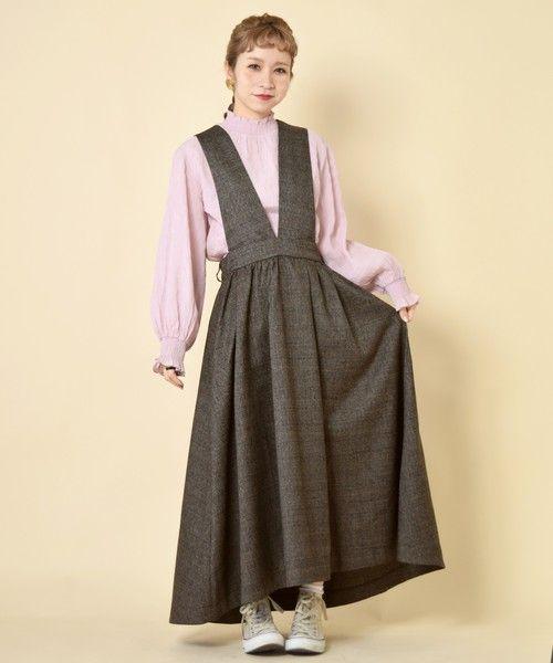 【ZOZOTOWN】w closet(ダブルクローゼット)のスカート「グレンチェックサロペットスカート」(293869)をセール価格で購入できます。