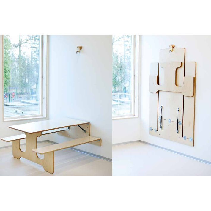Foldable furniture for small apartments - http://becoration.com/foldable-furniture-for-small-apartments/