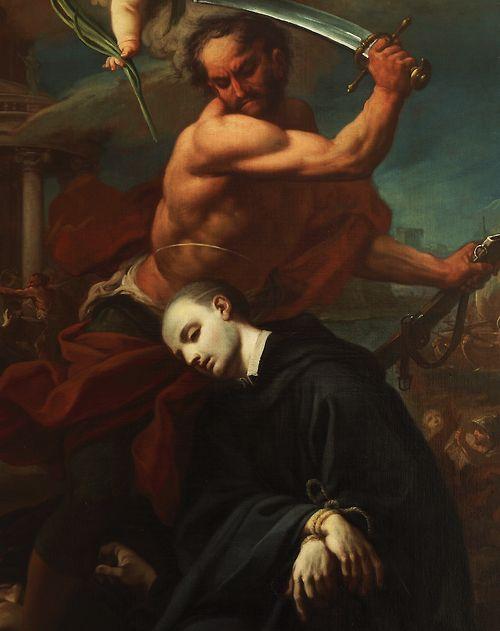 .:. The Martyrdom of Saint Placidus (Detail) - Pietro Bardellino St. Placidus was a disciple of St. Benedict