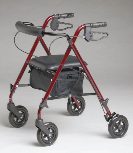 Rollator, Rolling Walker, Superlight, & Strudy Burgundy by Rollator. $99.00. lifetime warranty on frame. The Lightest Rollator Available. It weighs only 10lbs. water resistant pouch. 250lb. weight capacity. Rollator, Rolling Walker, Superlight, & Strudy Burgundy