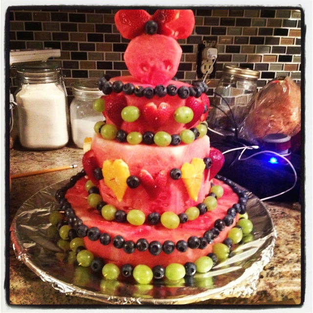 Birthday Cake Made Of Fruit Only Image Inspiration of Cake and
