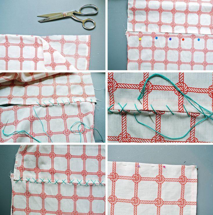 DIY Nautical Pillow Case Table Runner