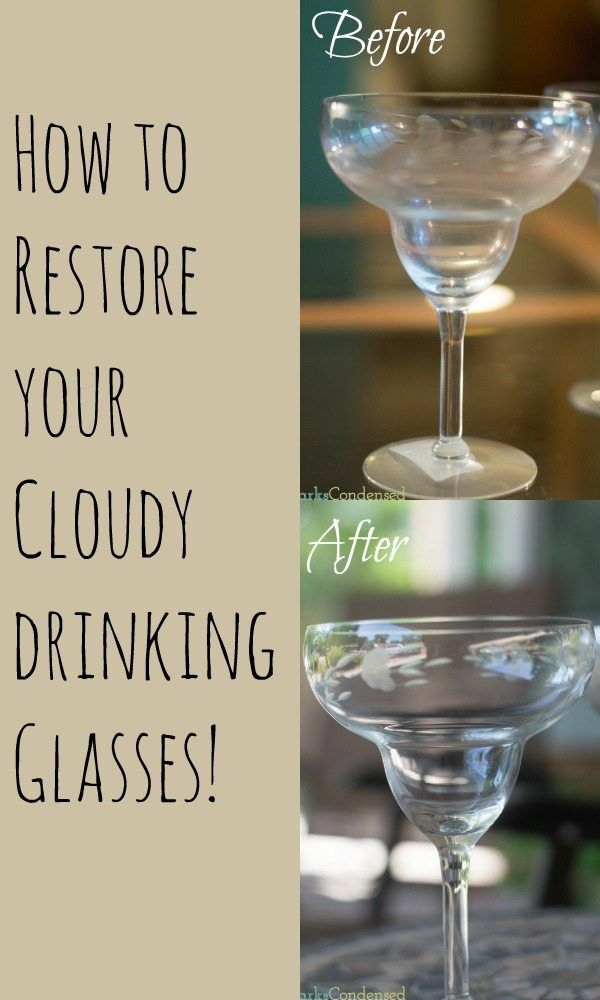 Clean Cloudy Drinking Glasses / Cleaning Tips / Clean Glass / Clean Glasses / Cloudy Glasses / Cleaning Idea / Life Hacks