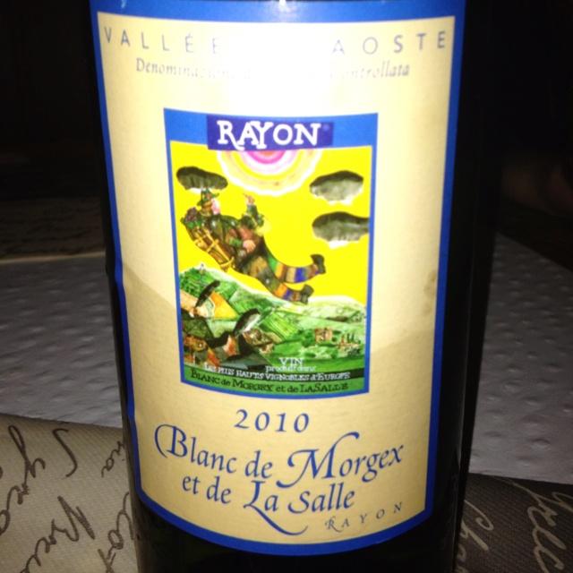 Blanc de Morgex...great white wine!