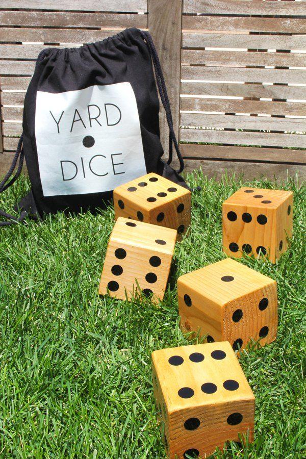 Giant DIY dice for endless fun in the yard