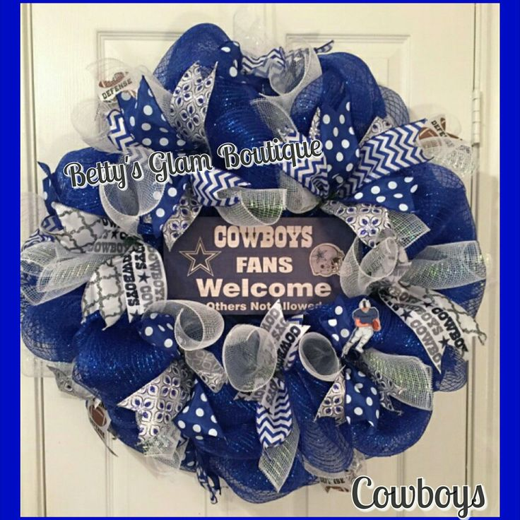 Dallas Cowboys Wreath in My Etsy Shop @ BettysGlamBoutique.Etsy.com