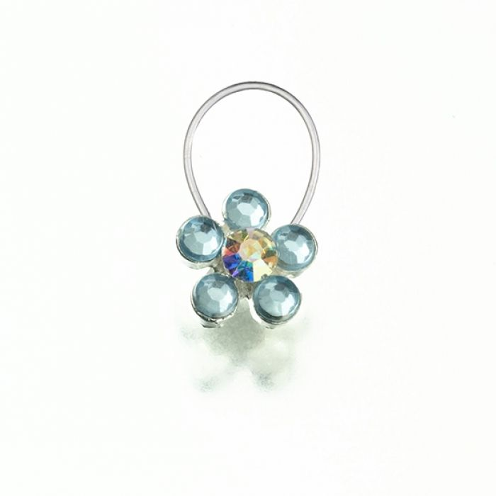 "The perfect ""something blue"" for any bride, this 0.5"" toe ring is silver-plated and decorated with light blue rhinestones."