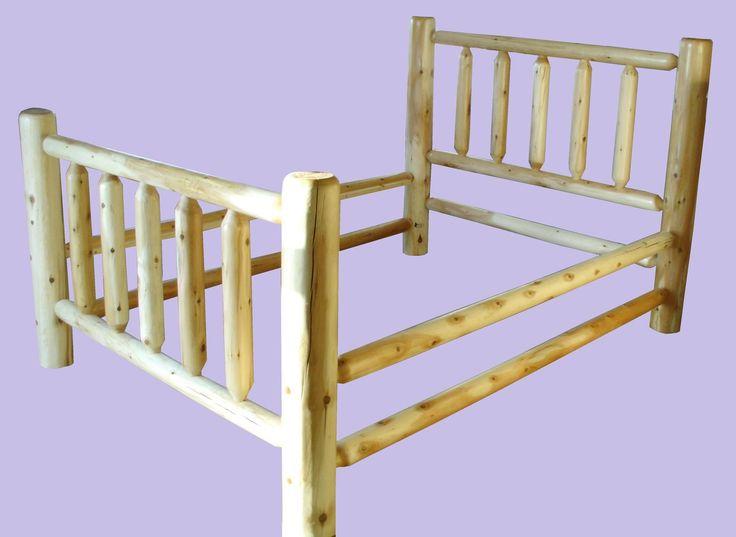 Rustic Cedar Log Bed - Traditional Series by Michigan Rustics