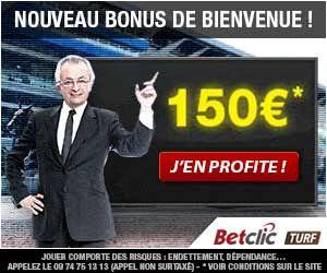 BetClic Turf : Le bonus de 1er dépôt est à 150 euros | Actualités | BetComparative.com