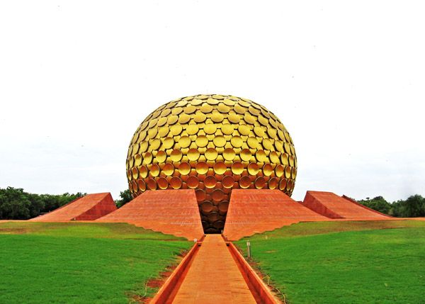 Auroville, India- if you're touring and close to Puducherry, make a detour to Auroville. If you're doing a voyage of self discovery a la Julia Roberts, it's probably already on your places in India to visit. Auroville is a concept township, a community of universal humanity where people of many nationalities live together in peace and harmony. At its heart surrounded by pristine gardens is the symbol of Auroville, a huge gold colored dome called the Matrimandir