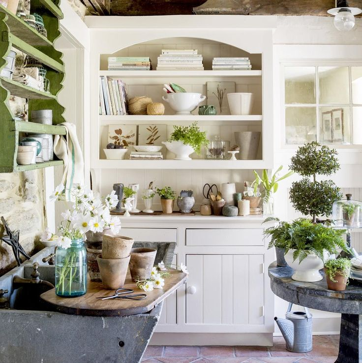 Porch Potting Shed :: Gardening :: Country Living Farmhouse Cottage Style