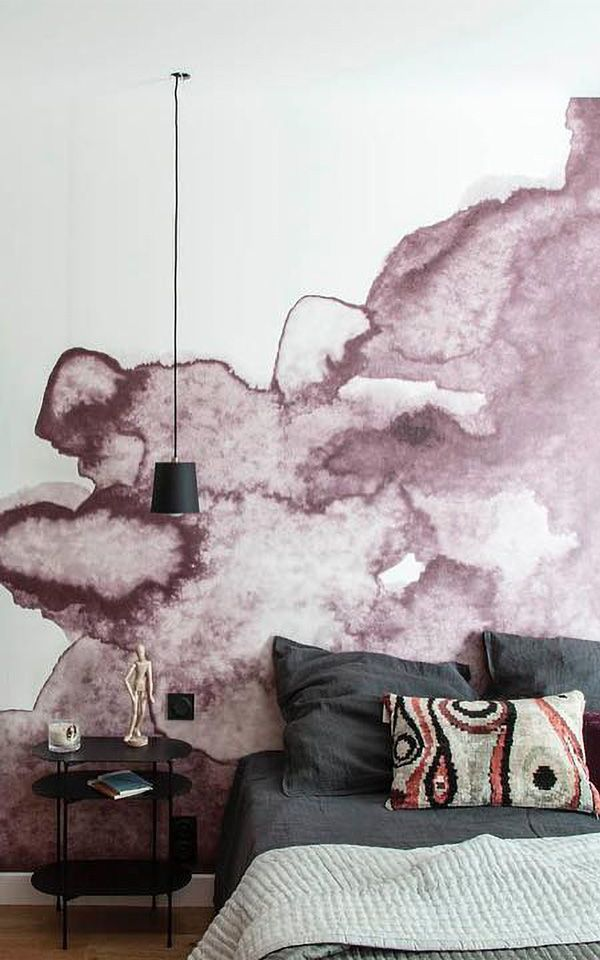 Decoration Murale Aquarelle Rose Poudre With Images