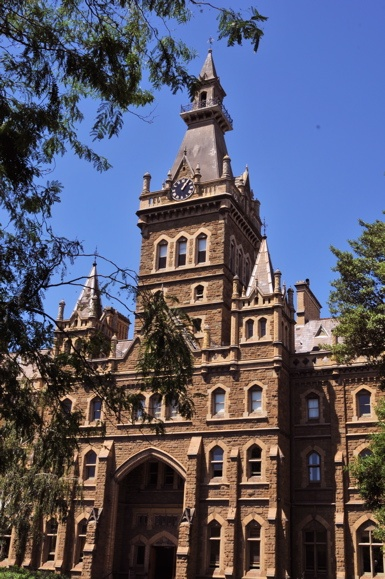 A beautiful old building at Melbourne University.  Rec'd postcard July 2013 from Georgia who is a student here.