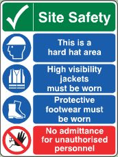 Site Safety No Admittance sign image