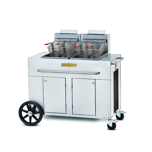 Crown Verity PF-2-NG Double Tank Natural Gas Portable Outdoor Fryer