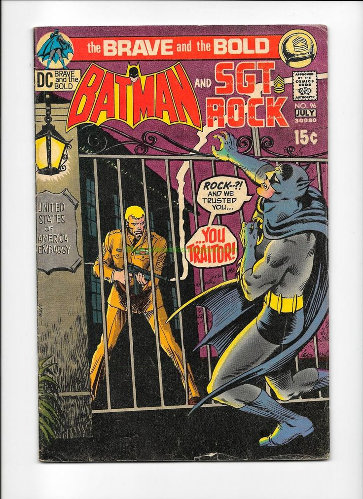 Comic Books For Sale: The Brave and the Bold Batman Green Arrow Sgt. Rock 85 96
