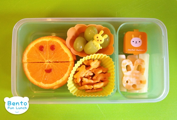 Orange Rabbit Bento Lunch for Kids! http://www.bentofunlunch.com/2012/04/bunny-bento.html