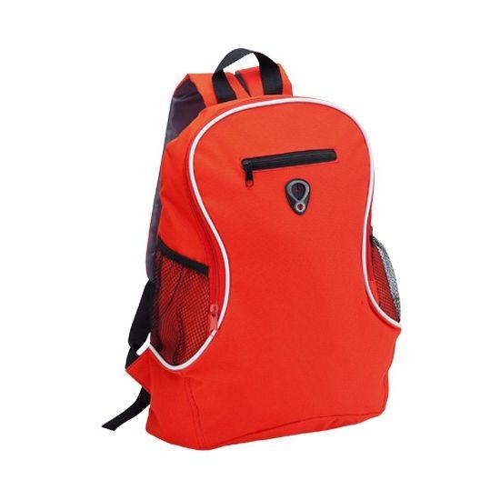 Rode voordelige rugzak  Voordelige backpack rugzak rood. Een voordelige rugzak in rode kleur met 2 flessenhouders en 1 groot vak en 1 klein voorvakje. Met dikke schouderbanden. Formaat: ongeveer 30 x 40 x 18 cm.  EUR 5.99  Meer informatie